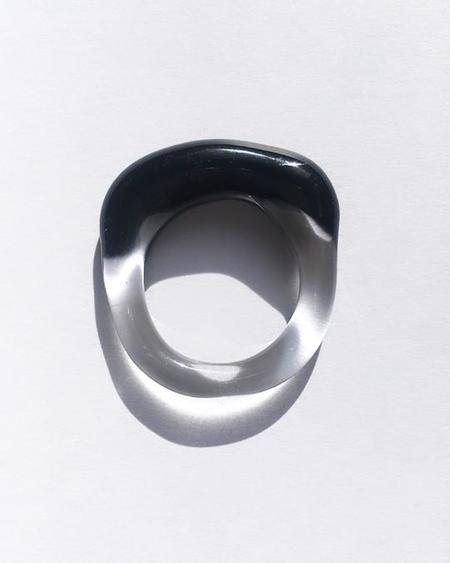 JANE D'ARENSBOURG Glass Multi Organic Band - Black