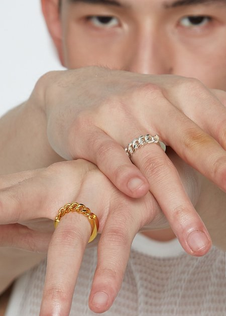 Cough In Vain CHAIN RING - Silver