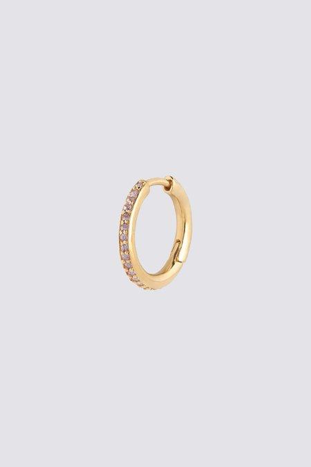 Maria Black Mica Huggie Violet earrings - Gold