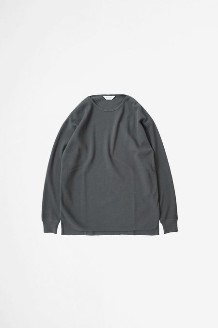 Still By Hand Thermal long sleeve - charcoal