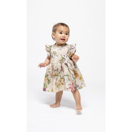 Kids christina rohde floral baby dress and bloomer set - ecru