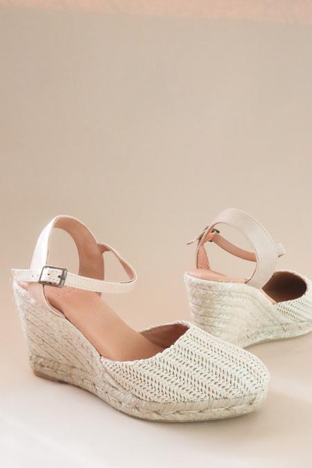 polka shoes Laia Espadrille Wedge Sandal - Natural