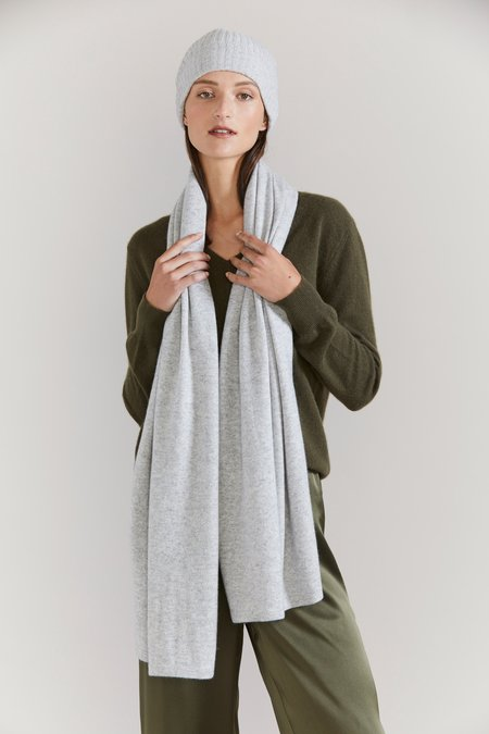 Laing Home Cashmere Scarf - Silver Marle