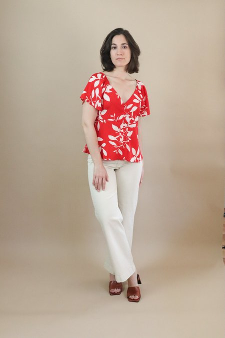 Orfeo Buffy Top - Maxi Floral Red