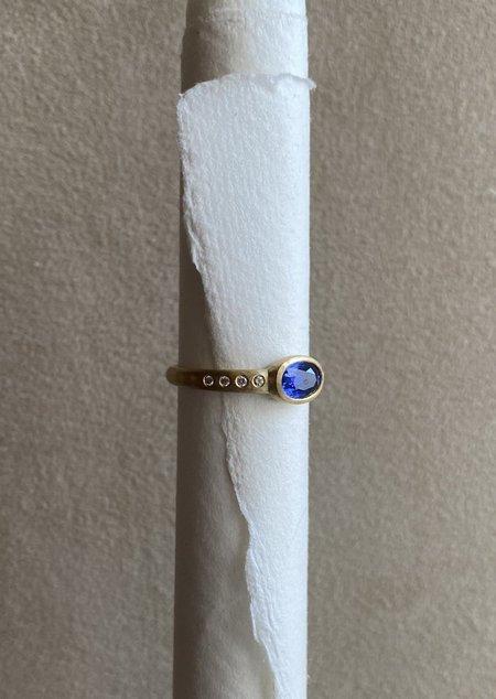 Tony Malmed Jewelry 1.12 Ceylon Sapphire Ring
