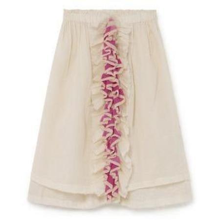 kids little creative factory candy ruffle skirt - cream