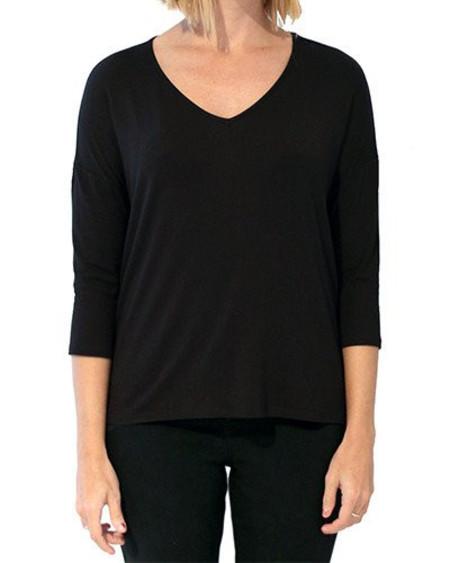 Menage A Deux V-Neck Long Sleeve (Black)