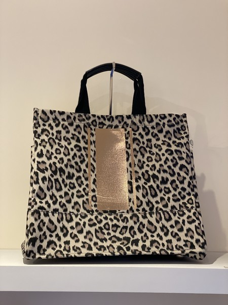 Quilted Koala Luxe North South Bag - Leopard