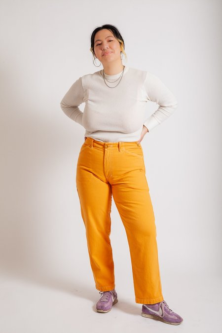 Gravel & Gold Painter Pants - Creamsicle