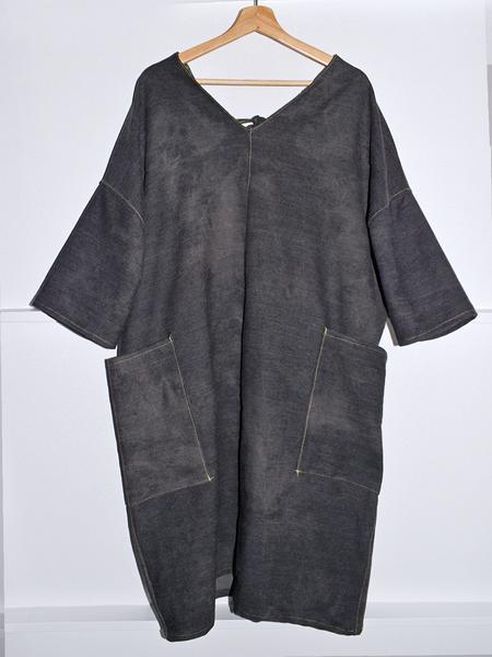 Noons Back-Tie Denim Dress - Marble Black