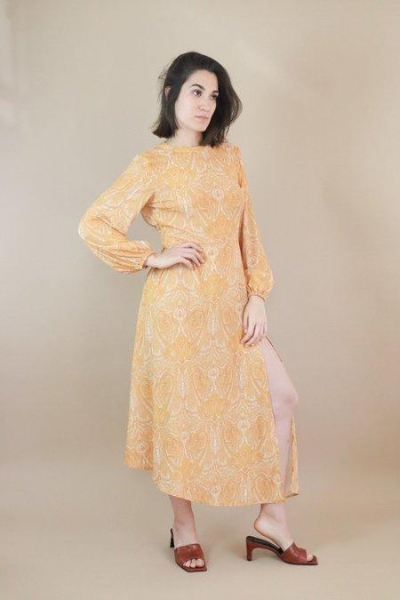 Traffic People Dalliance Dress - Mustard