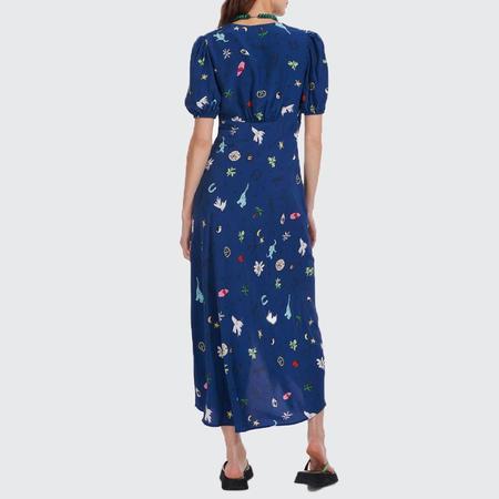 Staud Good Vibes Milla Dress - Twilight