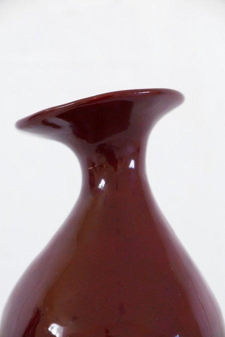Jade Paton Vessel 03 - Burgundy Glaze