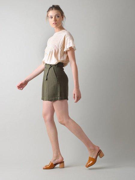 Indi & Cold Belted Shorts - Khaki