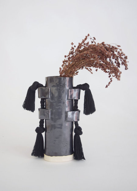 Karen Gayle Tinney Vase #504 - Black