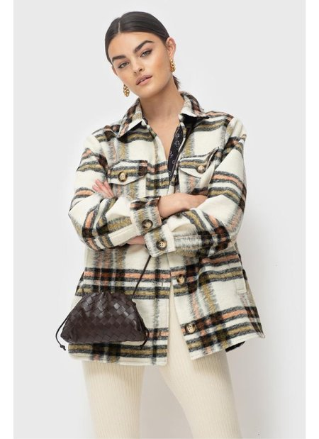 Ducie Lena Jacket Lined - Cream Check