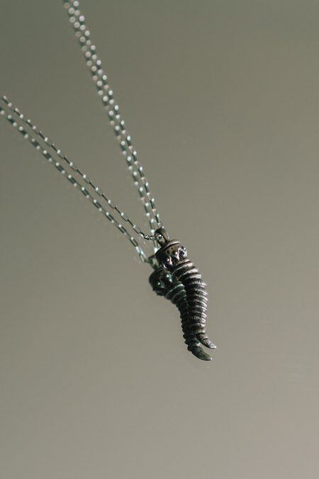 Dwellore Goat Horn Necklace - Sterling Silver