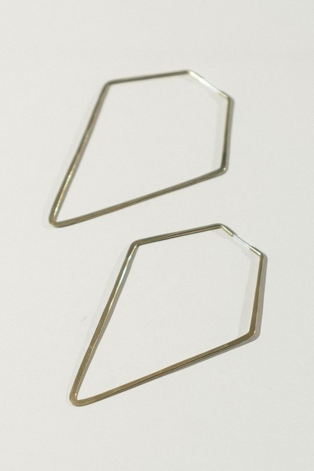 Essie Day High Diamond Hoop Earrings