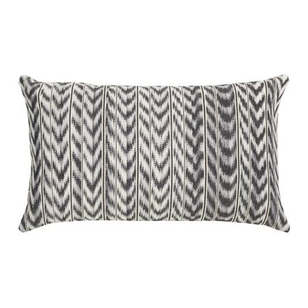 Archive New York Made to order  Ikat Pillow 12x20 - Toto Grey