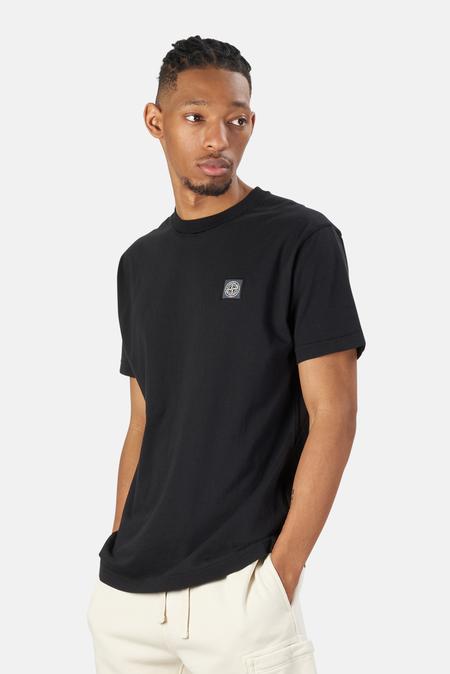 Stone Island Cotton Knitted Fissato T-Shirt - Black