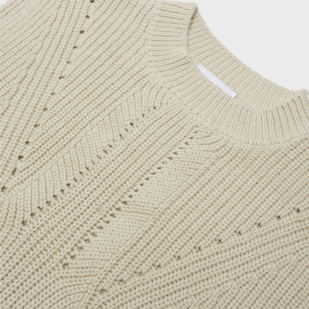 Unisex curated by. Rib Knit Vest - Beige