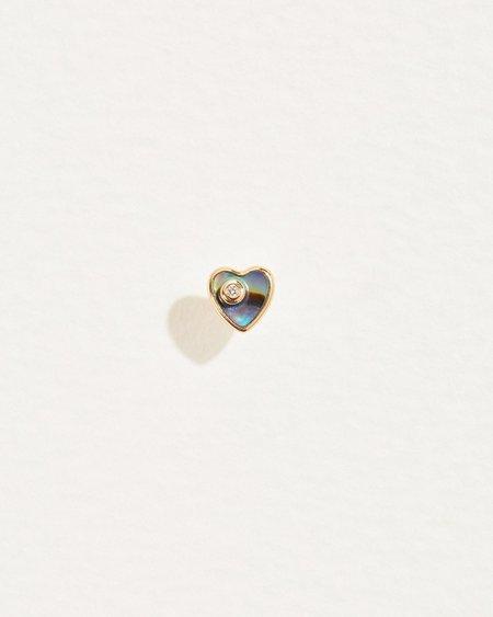 Pamela Love Heart Diamond Stud