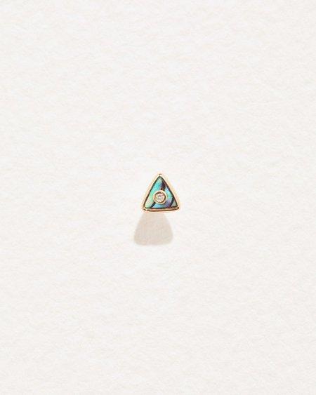 Pamela Love Triangle Diamond Stud - 14k yellow gold