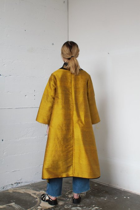 Alexa Stark silk jacket - gold
