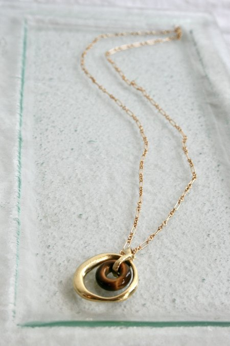 Mercurial NYC Satre Necklace - Tigers Eye/Gold