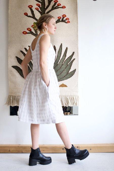 Eve Gravel Pearl Dress - Ivory/Grey