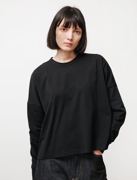 Studio Nicholson Loop Mercerized Cotton Long Sleeve tee - Black