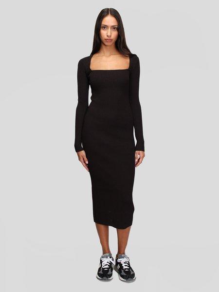 Ganni Melange Knit Dress - Chicory Coffee