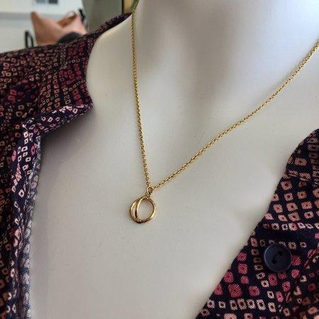 Gem & Blue Half Sphere Necklace