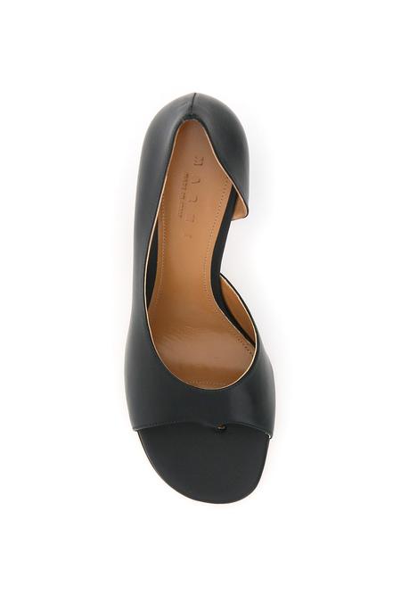 Marni Leather Thongs Pumps - Black