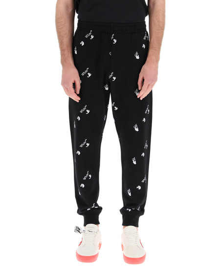 Off-White All-Over Logo Jogging Trousers - black/white