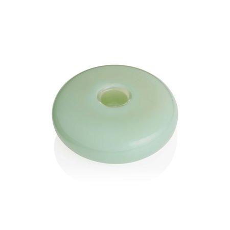 Maison Balzac Grand Galet Candle Holder - Opaque Mint Green