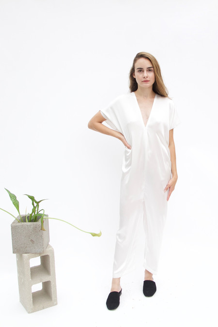 Miranda Bennett In-Stock: Everyday Jumpsuit, Silk Charmeuse in Natural