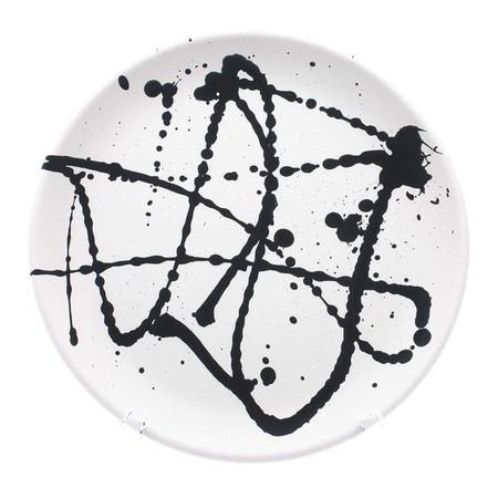 Gail Garcia Black Drizzle Platter