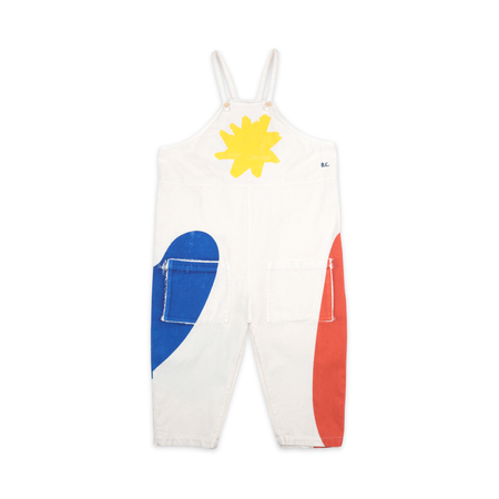 kids bobo choses landscape dungaree - off white