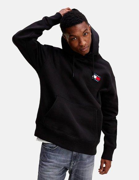 Tommy Jeans Badge Logo Hoodie - Black