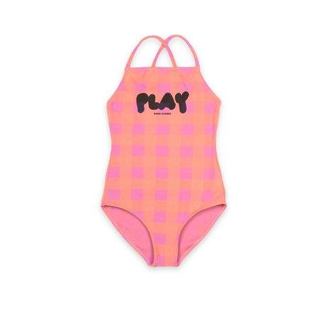 kids bobo choses play vichy swimsuit - Pink/Orange