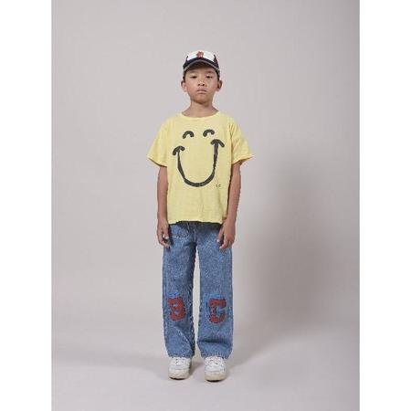 kids bobo choses b.c. squared denim pants - Blue