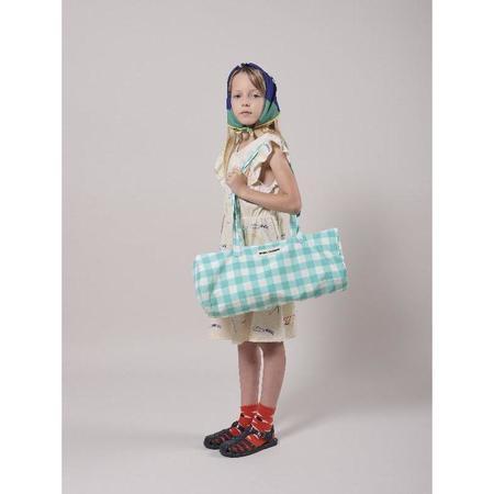 kids bobo choses vichy small sport bag - Blue/White
