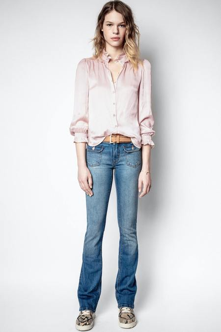 Zadig & Voltaire Tacca Satin Blouse - Pink