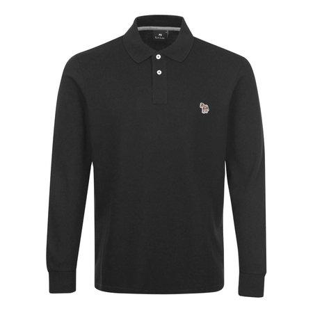 Paul Smith Zebra LS Polo Shirt - Black