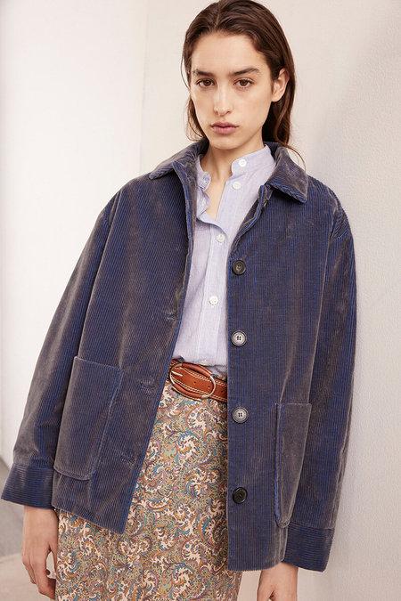 vanessa bruno reeva jacket - bleu grey
