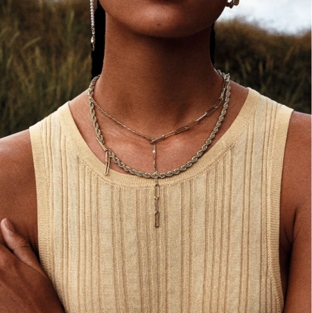 Pilgrim Simplicity Necklace - Gold Plated