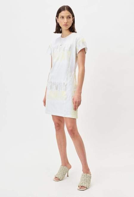 John Elliott Reconstructed Tie Dye Dress - Agate Geode
