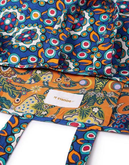 La Double J Reversible Tote Bag - Kaleidoscope Blue