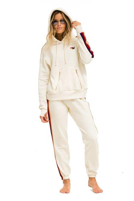 Aviator Nation Classic Velvet Stripes Sweatpants - White